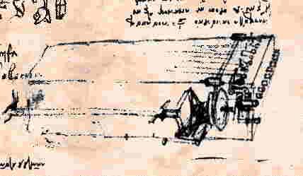 Leonardo DaVinci's sketch of the viola organista. (Wikimedia Commons)