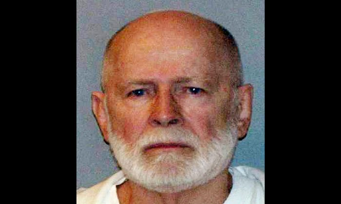 """This June 23, 2011 booking file photo provided by the U.S. Marshals Service shows gangster James """"Whitey"""" Bulger. (AP Photo/ U.S. Marshals Service, File)"""
