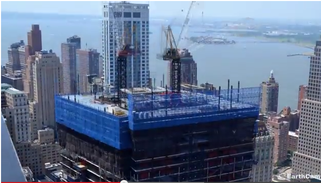 One moment during the construction of 4 World Trade Center in New York, Aug. 2009 to Nov. 2013, captured by EarthCam's time-lapse photography. (Screenshot/EarchCam)