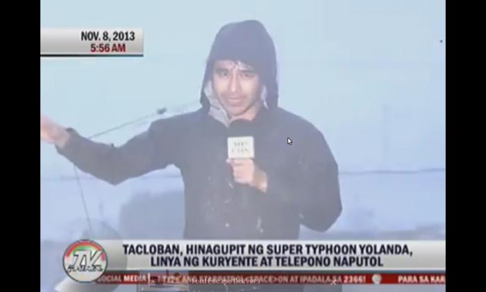 A screenshot of ABS-CBN's YouTube shows Atom Araullo in Tacloban City.