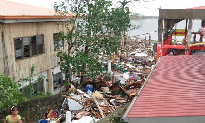 The damage in Basey (The City Government of Catbalogan)