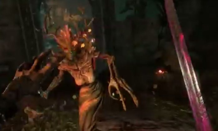 "A screenshot of a YouTube video shows ""Elder Scrolls Online"" beta gameplay."