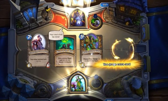 "A YouTube video shows the gameplay of ""Hearthstone."""