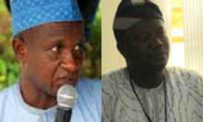Dr. Nasir Fagge, left, president of the ASUU; and professor Biodun Ogunyemi, vice president of the union. (ASUU-NG.org)