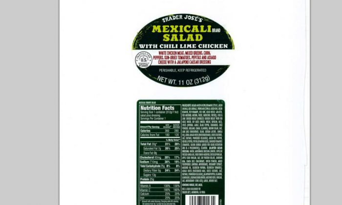 A screenshot of the USDA's website shows the label of one of the affected products.