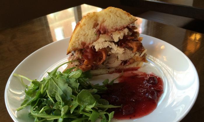 Jesse Schenker's Thanksgiving leftover sandwich. (Courtesy of Recette)