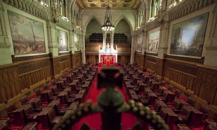 A view of the Senate chamber on Parliament Hill in Ottawa, file photo. (The Canadian Press/Sean Kilpatrick)