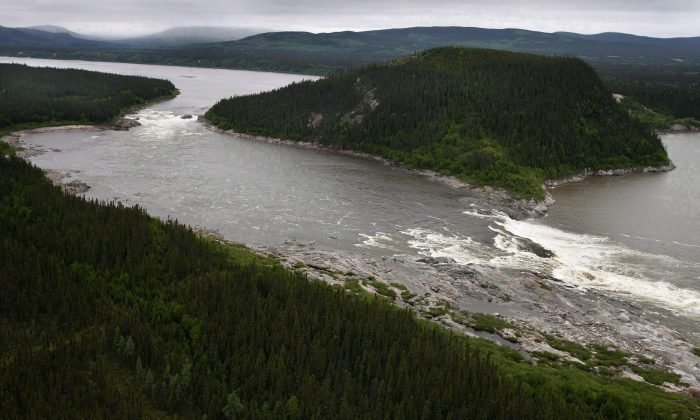 Muskrat Falls on the Churchill River in Labrador is shown in this Feb. 2011 file photo. (The Canadian Press/Paul Daly)
