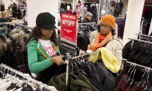 Black Friday 2014 in Midtown Manhattan: Footlocker vs. Modell's for Sneakers, and Low Prices at H&M and Macy's