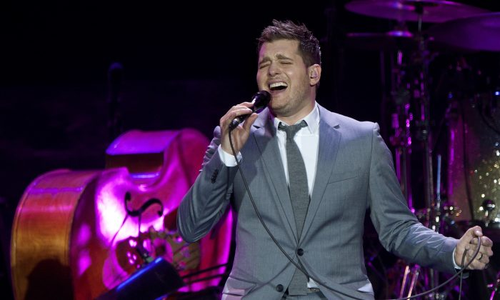 Canadian singer Michael Buble performs during a concert in Rotterdam on April 26, 2012. (Robert Vos/AFP/Getty Images)