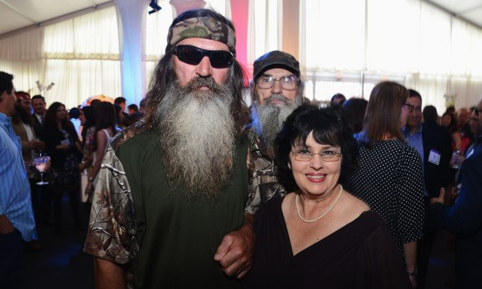 Phil Robertson, his wife Miss Kay Robertson, and Si Robertson in New York City in a file photo. (Jason Kempin/Getty Images for A&E Networks)