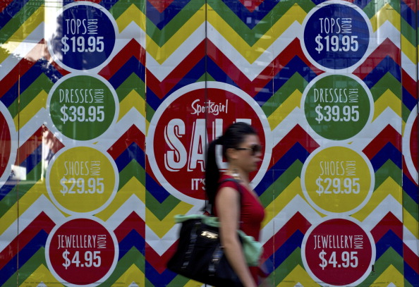 Australian Bureau of Statistics data released Dec 4 shows consumer spending remained well below trend, growing only 0.4 per cent in the quarter for 1.8 per cent over the year. (Manan Vatsyayyana/AFP/Getty Images)