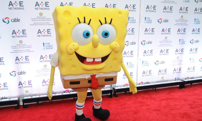 SpongeBob SquarePants attends the A+E hosted NCTA Chairman's Reception at the Smithsonian American Art Museum & National Portrait Gallery on June 11, 2013 in Washington, DC. (Photo by Larry French/Getty Images for A+E Networks)
