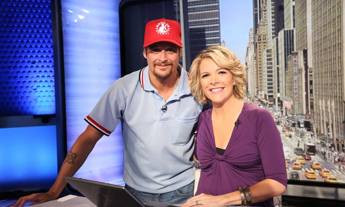 Megyn Kelly, a Fox News host, with Kid Rock in a file photo. (Rob Kim/Getty Images)