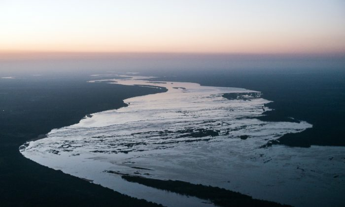 Aerial view of the Tocantins river near Maraba, in Para state, northern Brazil, on August 6, 2013. (YASUYOSHI CHIBA/AFP/Getty Images)