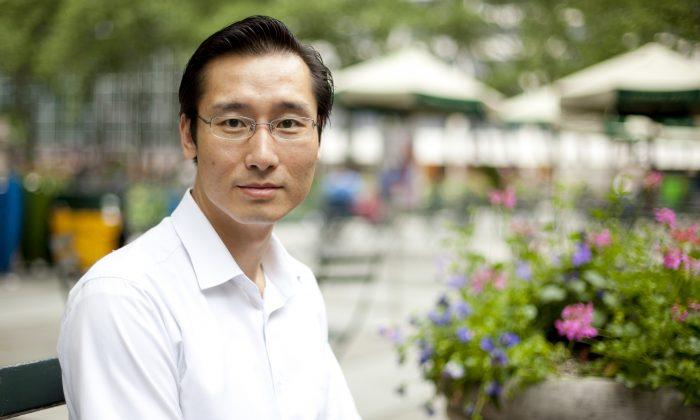 Yu Chao at Bryant Park, New York, May 24, 2013. (Samira Bouaou/ Epoch Times Staff)