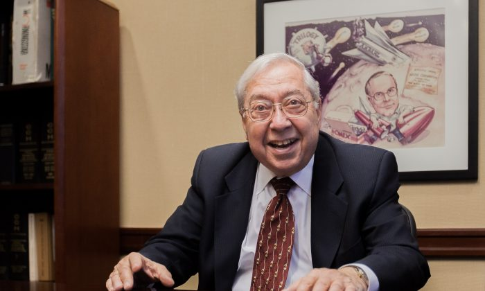 Harry Edelson at his office on the Upper West Side in New York on Nov 21, 2013. (Petr Svab/Epoch Times)
