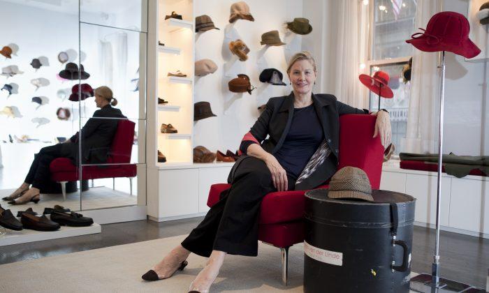 Designer Susan van der Linde in her New York showroom. (SamiraBouaou/Epoch Times)