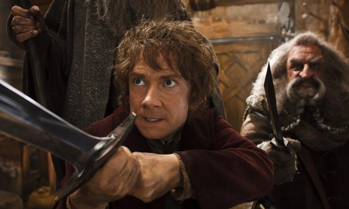 A movie still of Bilbo from 'The Hobbit: The Desolation of Smaug.'