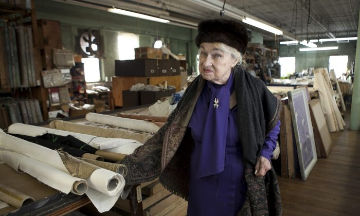 Countess Tatiana Bobrinkskoy at her wall paper design shop, Zina Studios, in Mt. Vernon, N.Y. (Samira Bouaou/Epoch Times)