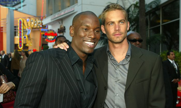 Tyrese Gibson and Paul Walker in a 2003 file photo. (Kevin Winter/Getty Images)