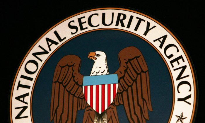 The seal of the National Security Agency. (PAUL J. RICHARDS/AFP/Getty Images)