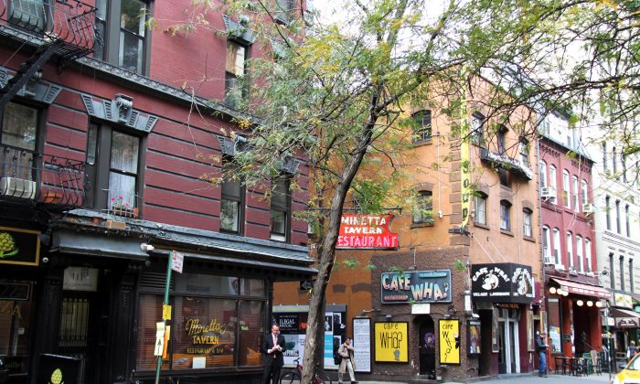 The corner of MacDougal and Minetta streets in the South Village Historic District in New York on Oct. 26, 2011. (GVSHP)