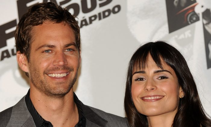 Jordana Brewster and Paul Walker in a 2009 file photo. (Carlos Alvarez/Getty Images)