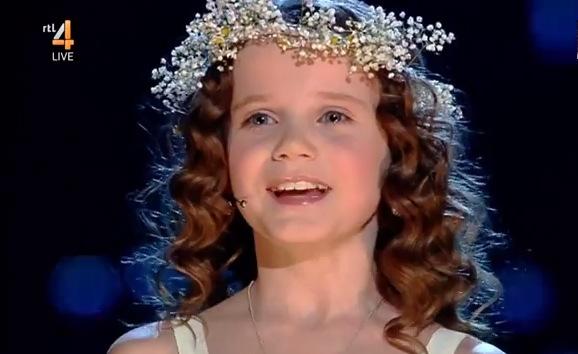 "9-year-old Amira Willighagen at ""Holland's Got Talent"" finale Dec. 28, 2013. (Screenshot/YouTube)"