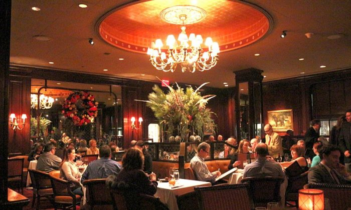 The Waldorf's Bull and Bear Restaurant. Good food in elegant surroundings. (Myriam Moran copyright 2013)