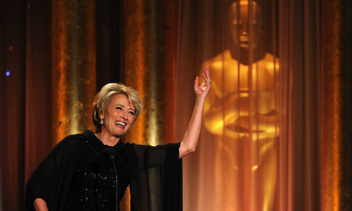 Actress Emma Thompson speaks onstage during the Academy of Motion Picture Arts and Sciences' Governors Awards on Nov. 16, 2013 in Hollywood, California. (Kevin Winter/Getty Images)