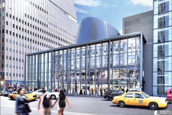 A rendering of the Fulton Street Transit Hub. (Courtesy of MTA)