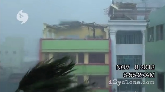 Footage from ground zero of Super Typhoon Haiyan in Tacoloban, Philippines, Nov. 8, 2013. (Screenshot/iCyclone)