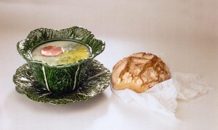 Caldo Verde, a kale, sausage, and potato soup. (Pousadas de Portugal)