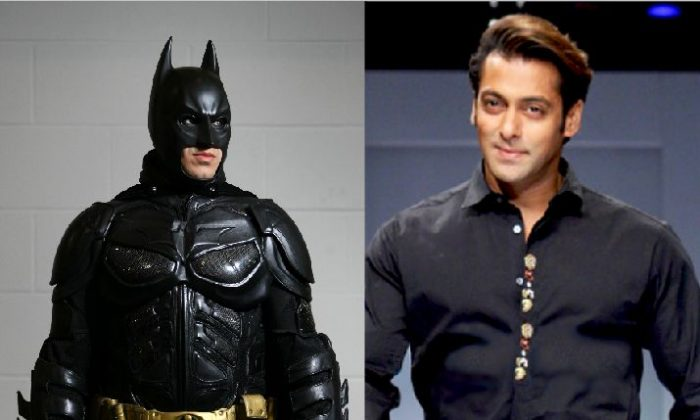 Left: An actor dressed as Batman poses for a photo at the London Super Comic Convention at the ExCeL Centre in London, England, on Feb. 23, 2013. (Jordan Mansfield/Getty Images) Right: Salman Khan, an actor a Quora user felt would make a good Batman if an Indian version of the movies were ever made. (Wikimedia Commons)