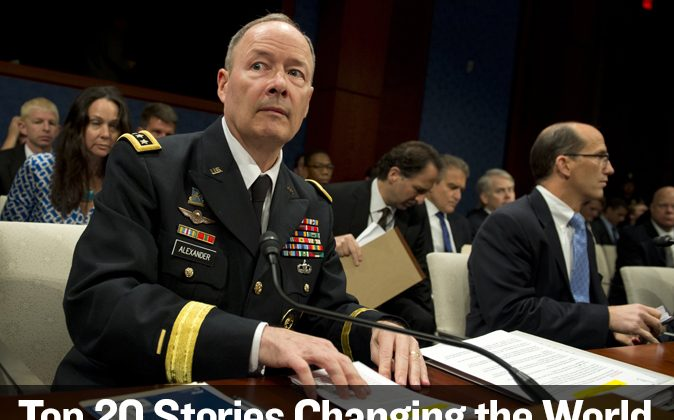 NSA Director Gen. Keith Alexander testifies before the House Select Intelligence Committee on the NSA spying activities, at Capitol Hill in Washington on June 18. (SAUL LOEB/AFP/Getty Images)