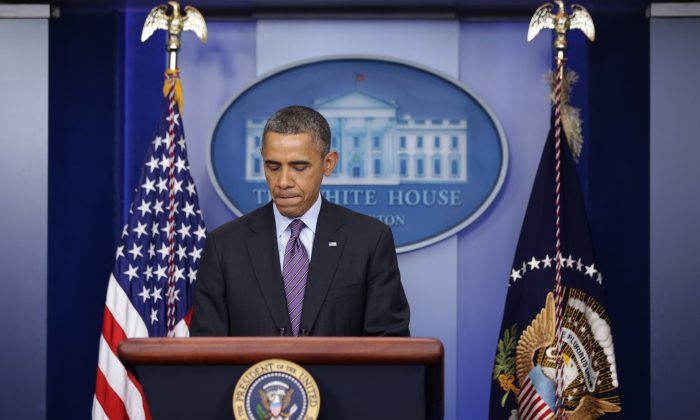 U.S. President Barack Obama makes a statement regarding the death of former South African president Nelson Mandela at the James Brady Press Briefing Room of the White House Dec. 5, 2013 in Washington, DC.  (Alex Wong/Getty Images)