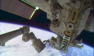 Astronauts Make Rare Christmas Eve Spacewalk