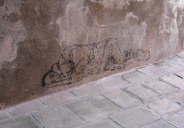 Street art in Venice, Italy. (Tara MacIsaac/Epoch Times)