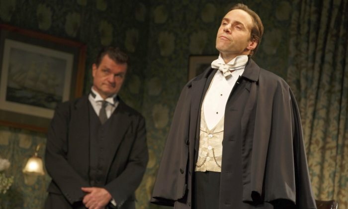 "Roundabout Theater Company's ""The Winslow Boy."" (L-R): Michael Cumpsty, Alessandro Nivola. (Photo by Joan Marcus)"