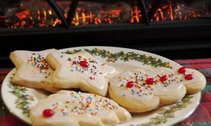Homemade sugar cookies are a joy to eat and make with children. They are also a treat for you-know-who on Christmas Eve. (Cat Rooney/Epoch Times)