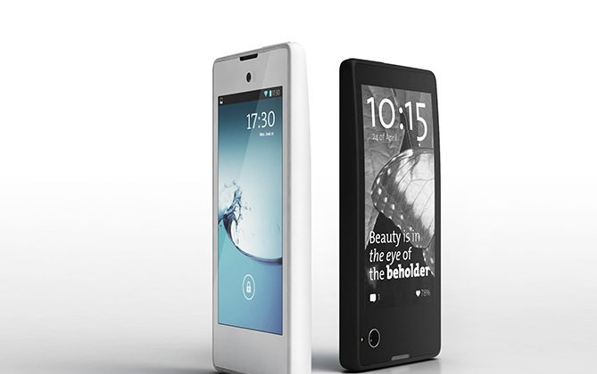 The new YotaPhone with its duo-layered screen. (Courtesy of YotaPhone)