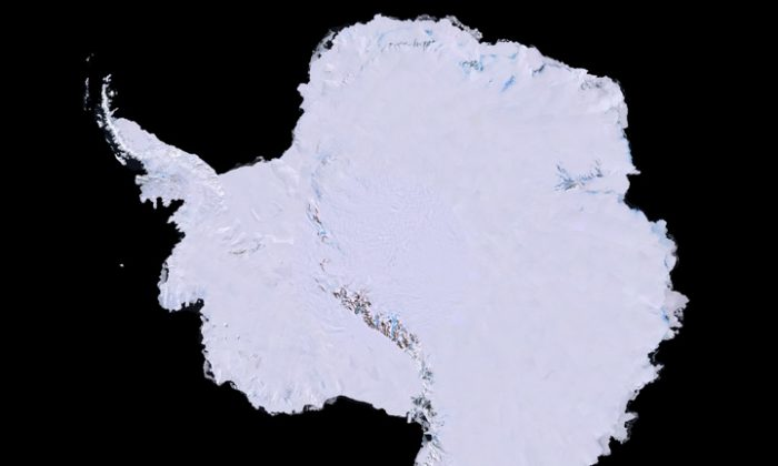 Antarctica: This is the first ever high-resolution, three-dimensional, true-color map of Antarctica. (Image courtesy USGS, NASA, National Science Foundation, and the British Antarctic Survey)