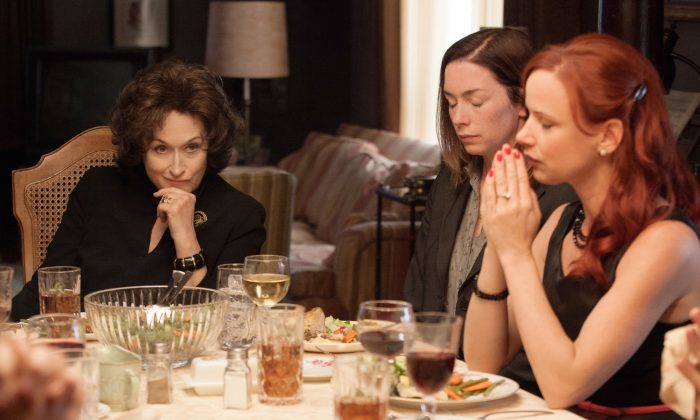 "Meryl Streep, and Julianne Nicholson, and Juliette Lewis star in ""August: Osage County."" (Claire Folger/The Weinstein Company)"