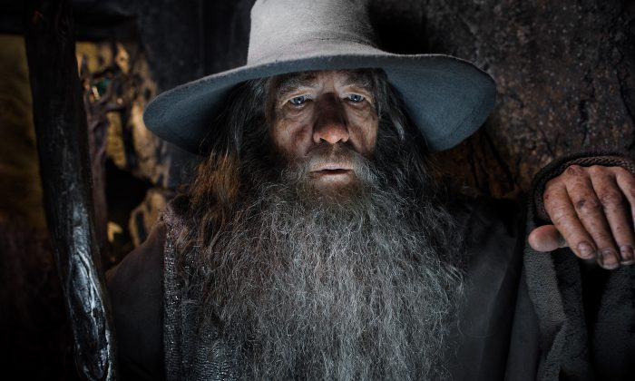 "Ian McKellen in a scene from ""The Hobbit: The Desolation of Smaug."" (AP Photo/Warner Bros. Pictures, Mark Pokorny)"