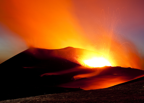 File photo of a volcano in Iceland, a potential energy source not only to produce electricity, but also for vehicles. (Shutterstock*)