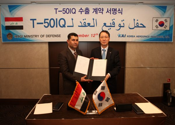 Korea Aerospace Industries and Iraqi government officials signed the agreement in Baghdad. (Korean Defense Industries)