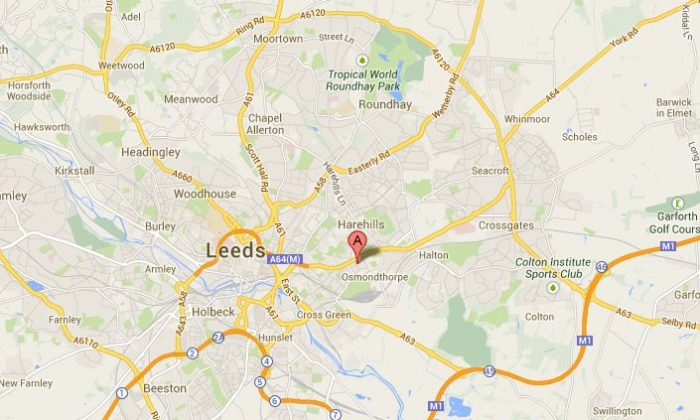 Google Maps shows the location of Dawlish Avenue, Osmondthorpe, Leeds.