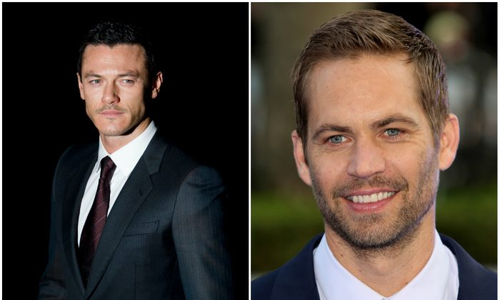 Luke Evans, left, and Paul Walker, right. (Leon Neal/AFP/Getty Images; Tim P. Whitby/Getty Images)