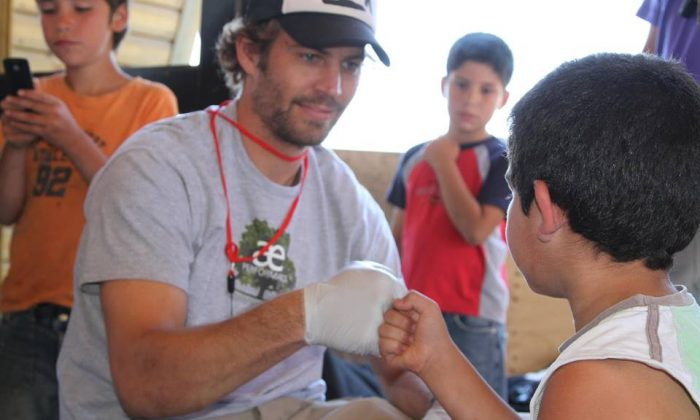 Paul Walker during charity work for Reach Out Worldwide. (Reach Out Worldwide)